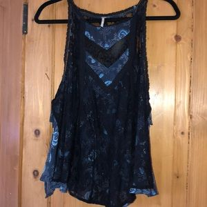 FREE PEOPLE !!!!!! Double laced tank top!